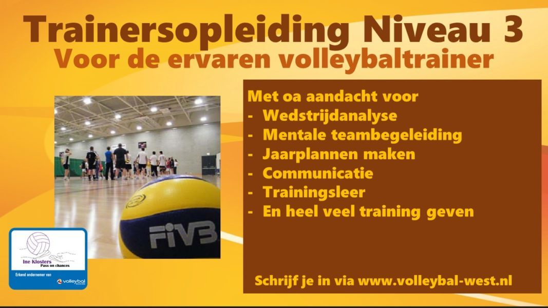 VT3 volleybal, Nevobo opleiding voor de volleybaltrainer