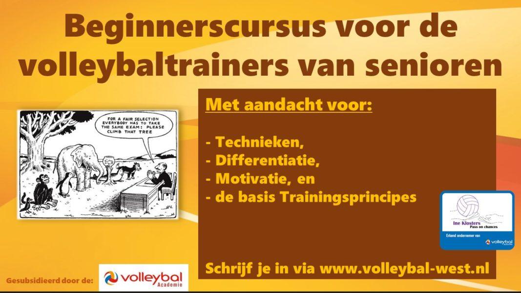 Beginnerscursus voor de Volleybaltrainer van Senioren