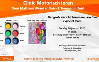 Clinic Motorisch leren – 26 januari 2020 in Zeist