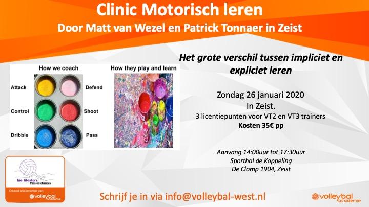 Clinic Motorisch leren – 26 januari 2020 in Zeist
