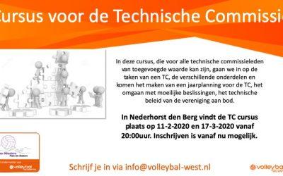 Cursus voor de technische commissie – Februari/Maart 2020 in Nederhorst den berg