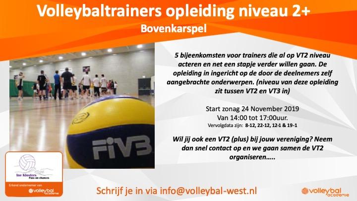 VT2-Plus voor de trainer met ervaring – 22 december in Bovenkarspel – over systemen en verdediging