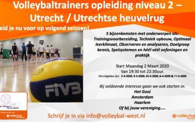 VT2 opleiding regio Utrecht / Utrechtse heuvelrug – 2 maart 2020 (maandagavond)